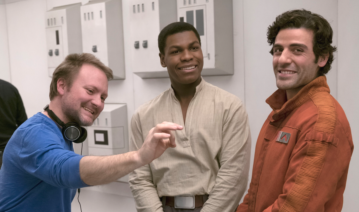Rian Johnson, John Boyega, and Oscar Isaac