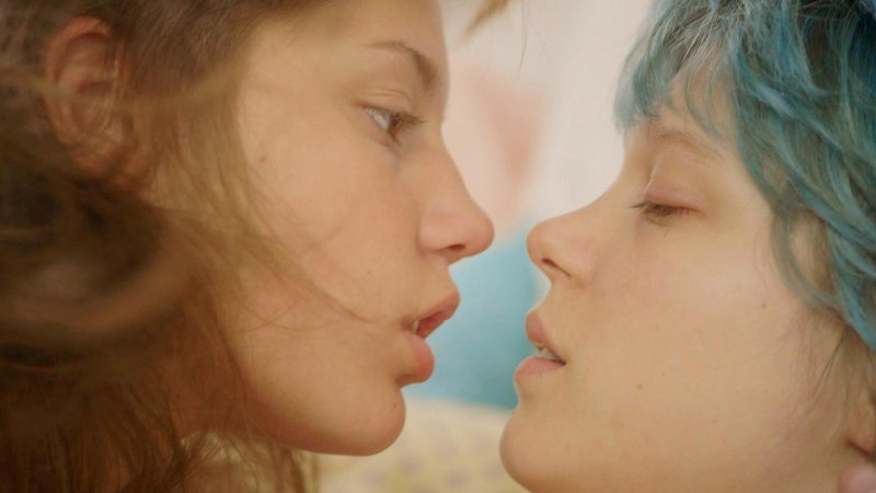 Editorial use only. No book cover usage. Mandatory Credit: Photo by Alcatraz/Canal+/Kobal/Shutterstock (5882033a) Adele Exarchopoulos, Lea Seydoux Blue Is The Warmest Color - 2013 Director: Abdellatif Kechiche Alcatraz Films/Canal+ FRANCE Scene Still Drama Blue Is The Warmest Colour La vie d'Adèle