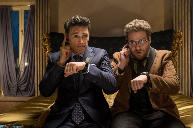 Editorial use only. No book cover usage. Mandatory Credit: Photo by Snap Stills/Shutterstock (4314694b) James Franco, Seth Rogen 'The Interview' Film - 2014