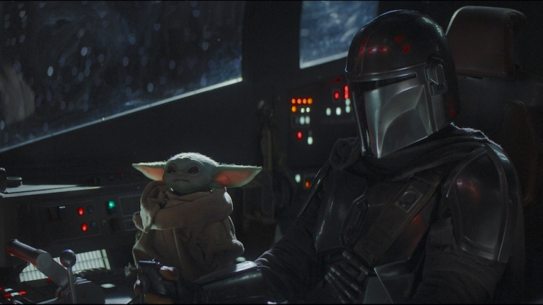 "The Child and Pedro Pascal in ""The Mandalorian"" Baby Yoda"