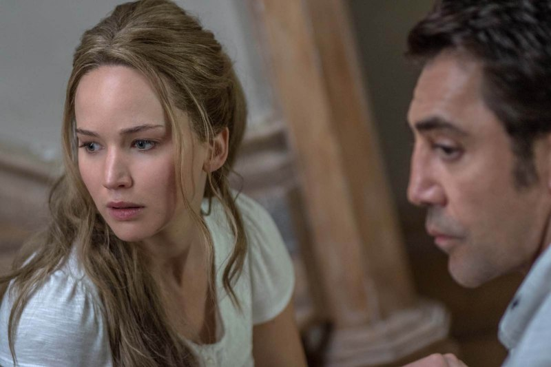 Editorial use only. No book cover usage. Mandatory Credit: Photo by Shutterstock (9114519g) Jennifer Lawrence, Javier Bardem Mother! - 2017
