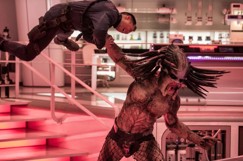 Editorial use only. No book cover usage. Mandatory Credit: Photo by K French/20th Century Fox/Kobal/Shutterstock (9882604b) The Predator (2018) 'The Predator' Film - 2018 When a young boy accidentally triggers the universe's most lethal hunters' return to Earth, only a ragtag crew of ex-soldiers and a disgruntled science teacher can prevent the end of the human race.