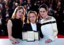 Celine Sciamma (C) poses with her Best Screenplay Award for the movie 'Portrait Of A Lady On Fire' with French actress Adele Haenel (L) and French actress Noemie Merlant (R) during the Award Winners photocall at the 72nd annual Cannes Film Festival, in Cannes, France, 25 May 2019.Award Winners Photocall - 72nd Cannes Film Festival, France - 25 May 2019