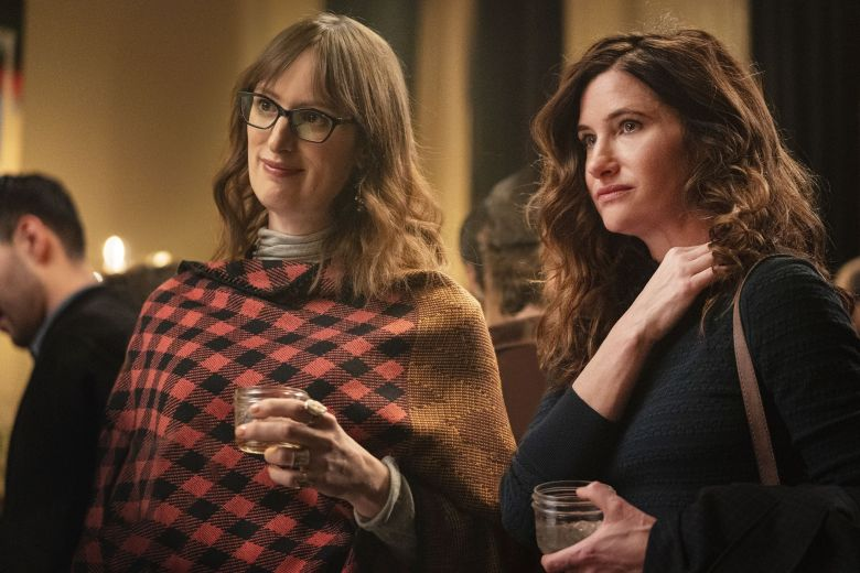 Editorial use only. No book cover usage.Mandatory Credit: Photo by HBO/Kobal/Shutterstock (10492282ae)Jen Richards as Margo Fairchild and Kathryn Hahn as Eve Fletcher'Mrs. Fletcher' TV Show Season 1 - 2019A single mom whose son has moved out for college looks to begin a new life on her own.