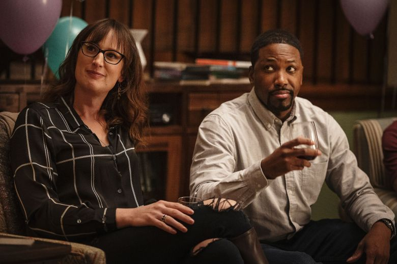 Editorial use only. No book cover usage.Mandatory Credit: Photo by HBO/Kobal/Shutterstock (10492282r) Jen Richards as Margo Fairchild and Ifadansi Rashad as Curtis 'Mrs. Fletcher' TV Show Season 1 - 2019 A single mom whose son has moved out for college looks to begin a new life on her own.