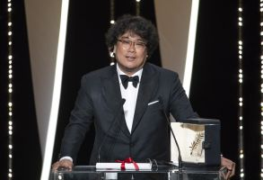 Director Bong Joon-Ho receives the Palme d'Or award for 'Parasite''The Specials' premiere and closing ceremony, 72nd Cannes Film Festival, France - 25 May 2019