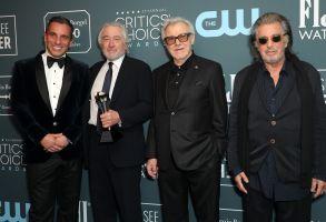 Sebastian Maniscalco, Robert De Niro, Harvey Keitel and Al Pacino - Best Ensemble - The Irishman25th Annual Critics' Choice Awards, Press Room, Barker Hanger, Los Angeles, USA - 12 Jan 2020