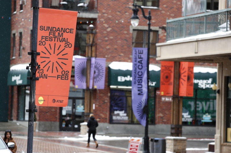 A woman walks up Old Main Street the day before the start of the 2020 Sundance Film Festival in Park City, Utah, USA, 22 January 2020. The festival runs from 23 January to 2 February 2020.2019 Sundance Film Festival 'Sundance Preparation on Old Main Street', Park City, Usa - 22 Jan 2020
