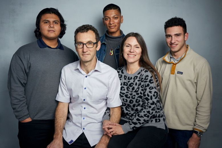 "Steven Garza, Jesse Moss, Rene Otero, Amanda McBaine, Ben Feinstein. Steven Garza, from left, director Jesse Moss, Rene Otero, director Amanda McBaine and Ben Feinstein pose for a portrait to promote the film ""Boys State"" at the Music Lodge during the Sundance Film Festival, in Park City, Utah2020 Sundance Film Festival - ""Boys State"" Portrait Session, Park City, USA - 24 Jan 2020"