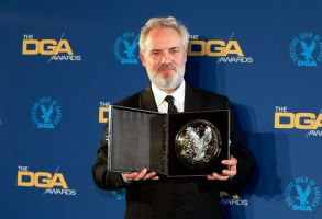 Sam Mendes poses with his award after a win for '1917' at the 72nd Annual Directors Guild of America (DGA) Awards at the Ritz-Carlton in Los Angeles, California, USA, 25 January 2020.72nd Annual DGA Awards in Los Angeles, USA - 25 Jan 2020