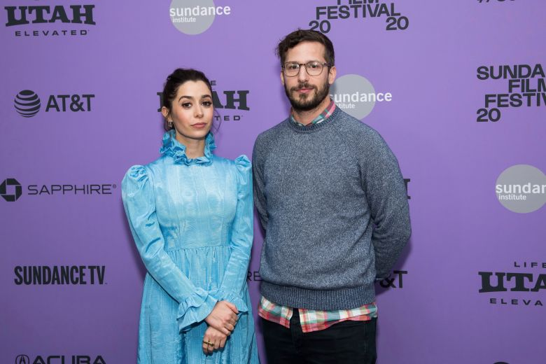 "Cristin Milioti, Andy Samberg. Cristin Milioti and Andy Samberg attend the premiere of ""Palm Springs"" at the Library Center Theatre during the 2020 Sundance Film Festival, in Park City, Utah2020 Sundance Film Festival - ""Palm Springs"" Premiere, Park City, USA - 26 Jan 2020"
