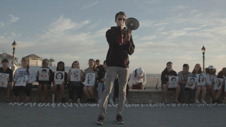 David Hogg appears in Us Kids by Kim A. Snyder, an official selection of the U.S. Documentary Competition at the 2020 Sundance Film Festival. Courtesy of Sundance Institute.All photos are copyrighted and may be used by press only for the purpose of news or editorial coverage of Sundance Institute programs. Photos must be accompanied by a credit to the photographer and/or 'Courtesy of Sundance Institute.' Unauthorized use, alteration, reproduction or sale of logos and/or photos is strictly prohibited.
