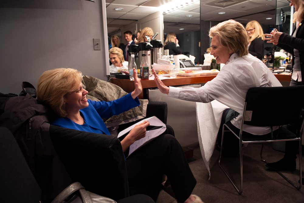 "Kate McKinnon and Hillary Clinton in ""Hillary"""