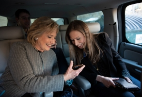 "Hillary Clinton and Chelsea Clinton in ""Hillary"" Hulu"