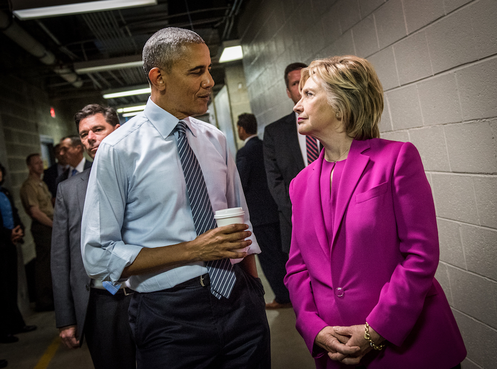 "Barack Obama and Hillary Clinton in ""Hillary"""
