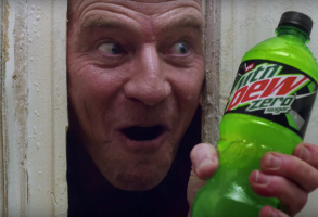 Bryan Cranston Mountain Dew Shining Ad