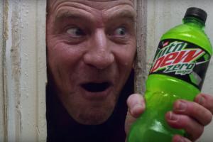 Bryan Cranston Recreates 'The Shining' in Bizarre Mountain Dew Super Bowl Ad