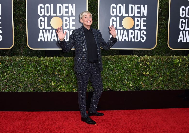Ellen DeGeneres arrives at the 77th annual Golden Globe Awards at the Beverly Hilton Hotel, in Beverly Hills, Calif77th Annual Golden Globe Awards - Arrivals, Beverly Hills, USA - 05 Jan 2020