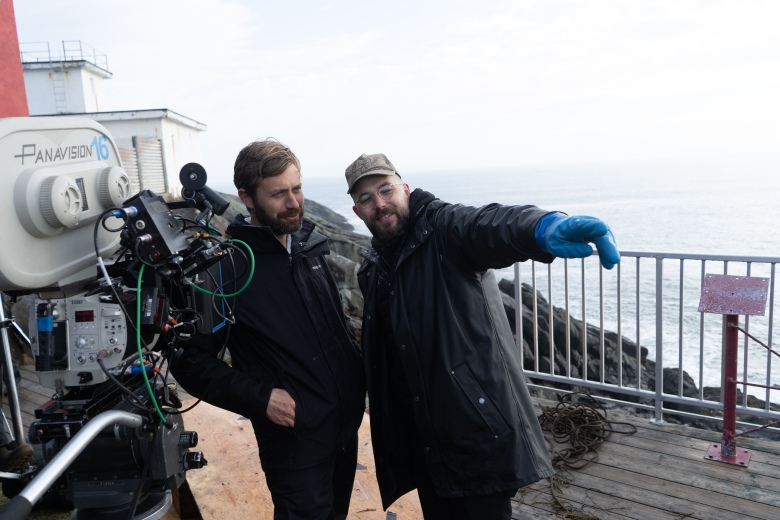 """The Lighthouse"" DP Jarin Blaschke and director Robert Eggers"