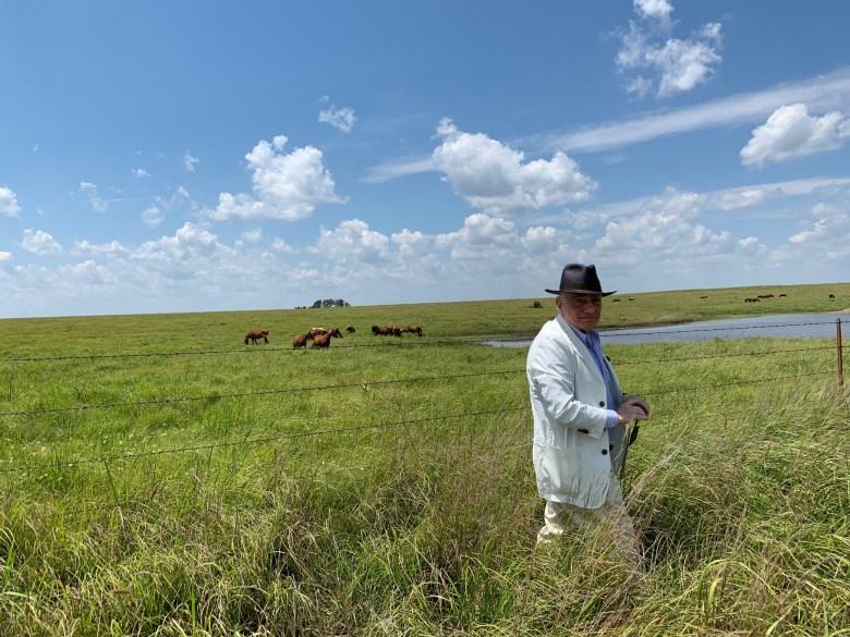 Martin Scorsese scouting in Oklahom