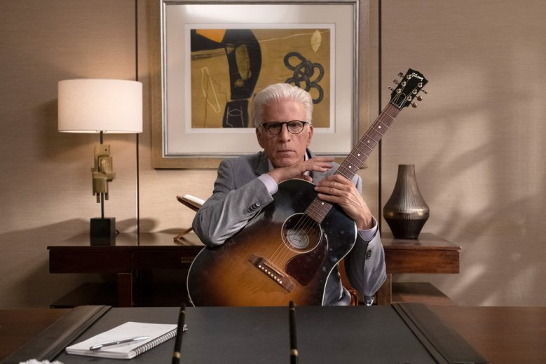 "THE GOOD PLACE -- ""Whenever You're Ready"" Episode 413/414 -- Pictured: Ted Danson as Michael -- (Photo by: Colleen Hayes/NBC)"