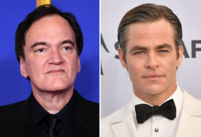 Quentin Tarantino and Chris Pine