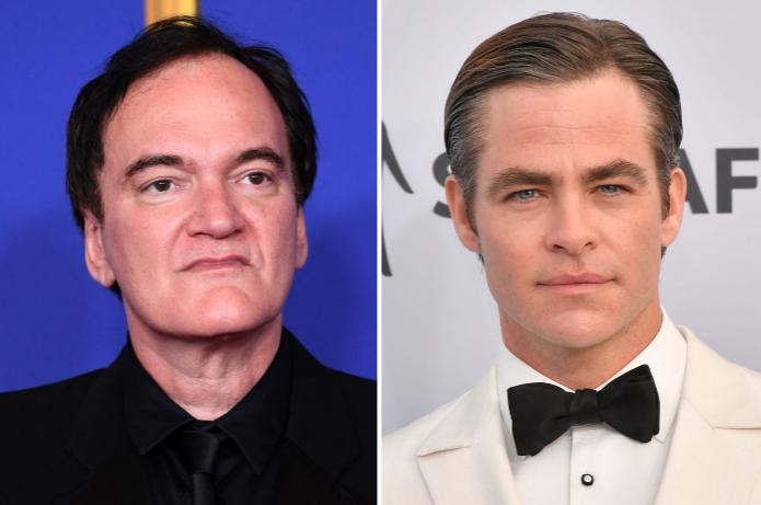 Quentin Tarantino and Chris Pine