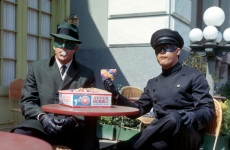 Editorial use only. No book cover usage.Mandatory Credit: Photo by 20th Century Fox Tv/Greeway Prod/Kobal/Shutterstock (5881020k)Van Williams, Bruce LeeThe Green Hornet - 1966-196720th Century Fox TV/Greeway ProdUSAScene Still