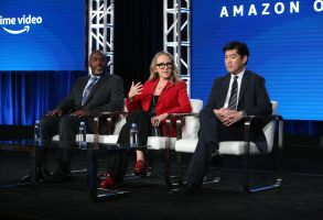Vernon Sanders, Jennifer Salke and Albert Cheng Amazon Executive Session - TCA Winter Press Tour, Panels, Los Angeles, USA - 14 Jan 2020