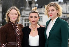Saoirse Ronan, Florence Pugh and Greta Gerwig'Little Women' film photocall, Corinthia Hotel, London, UK - 16 Dec 2019