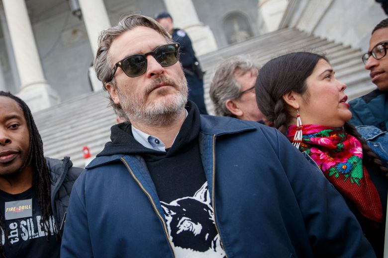 Golden Globe winner Joaquin Phoenix participates in the Fire Drill Friday climate change rally at the US Capitol in Washington, DC, USA, 10 January 2020. Jane Fonda, Golden Globe winner Joaquin Phoenix, Academy Award winner Susan Sarandon and Martin Sheen participated.Fire Drill Friday climate change rally at the US Capitol, Washington, USA - 10 Jan 2020