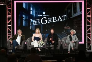 Tony McNamara, Elle Fanning, Nicholas Hoult and Marian MacGowan'The Great' TV Show, HULU, TCA Winter Press Tour, Panels, Los Angeles, USA - 17 Jan 2020