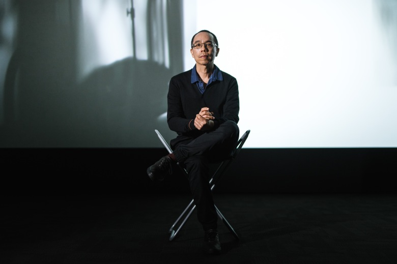 Apichatpong Weerasethakul with his artwork 'Invisibility'Artes Mundi 8 winner Apichatpong Weerasethakul portrait session, National Museum Cardiff, Wales, UK - 24 Jan 2019