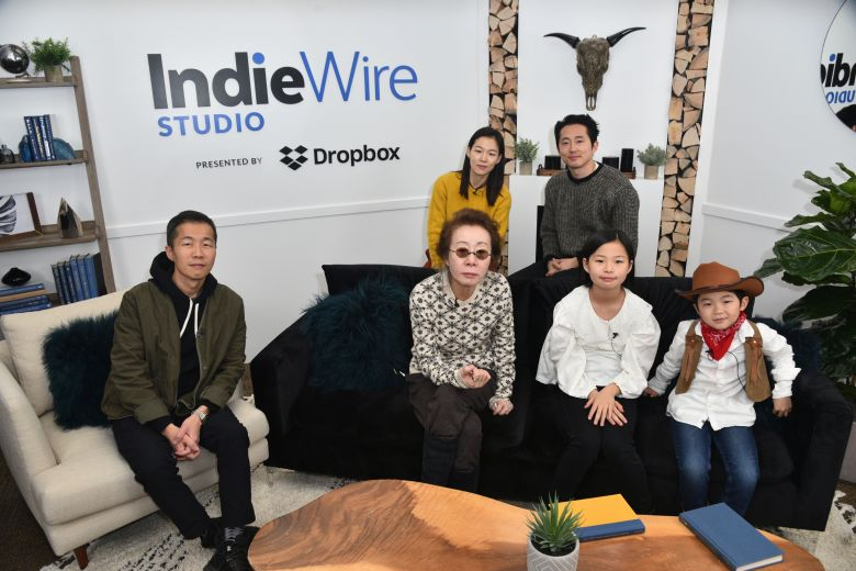 Lee Isaac Chung, Youn Yuh-jung, Noel Cho and Alan Kim, Steven Yuen and Han YeriIndieWire Sundance Studio presented by Dropbox, Day 4, Sundance Film Festival, Park City, USA - 27 Jan 2020