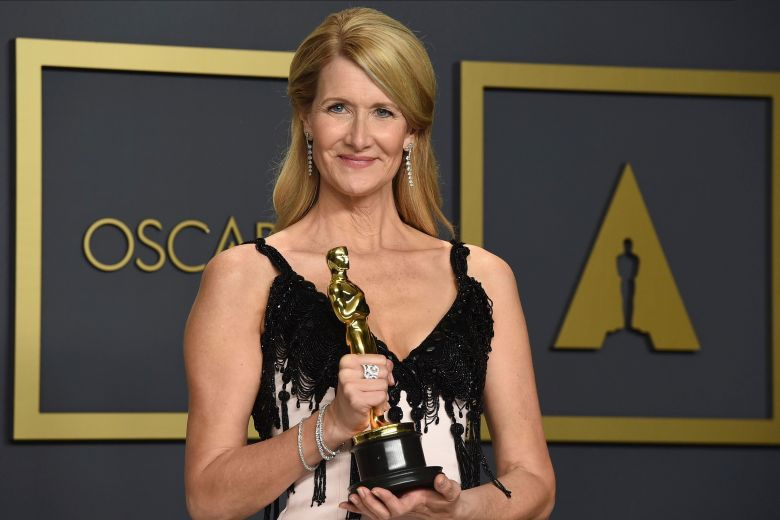"Laura Dern, winner of the award for best performance by an actress in a supporting role for ""Marriage Story"", poses in the press room at the Oscars, at the Dolby Theatre in Los Angeles92nd Academy Awards - Press Room, Los Angeles, USA - 09 Feb 2020"
