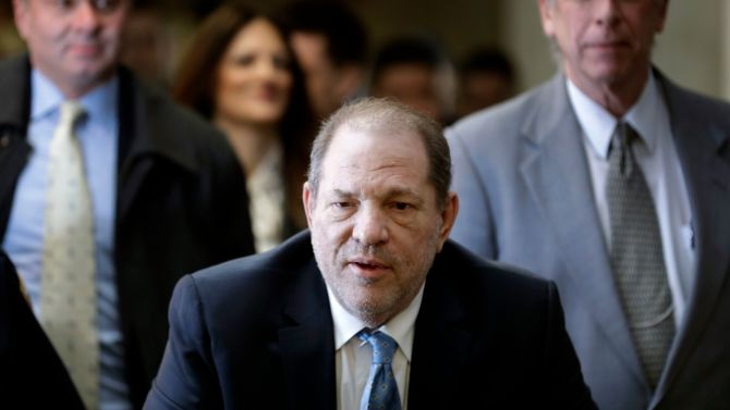 Harvey Weinstein arrives at a Manhattan courthouse as jury deliberations continue in his rape trial, in New YorkSexual Misconduct Weinstein, New York, USA - 24 Feb 2020