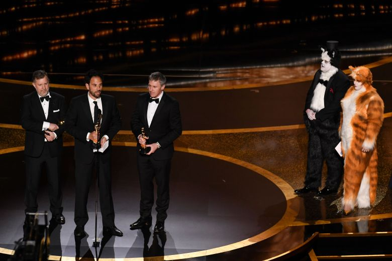 Greg Butler, Guillaume Rocheron, and Dominic Tuohy -Visual Effects - 1917, James Corden and Rebel Wilson92nd Annual Academy Awards, Show, Los Angeles, USA - 09 Feb 2020
