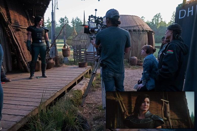 """Dallas Bryce Howard shooting """"The Mandalorian"""""""