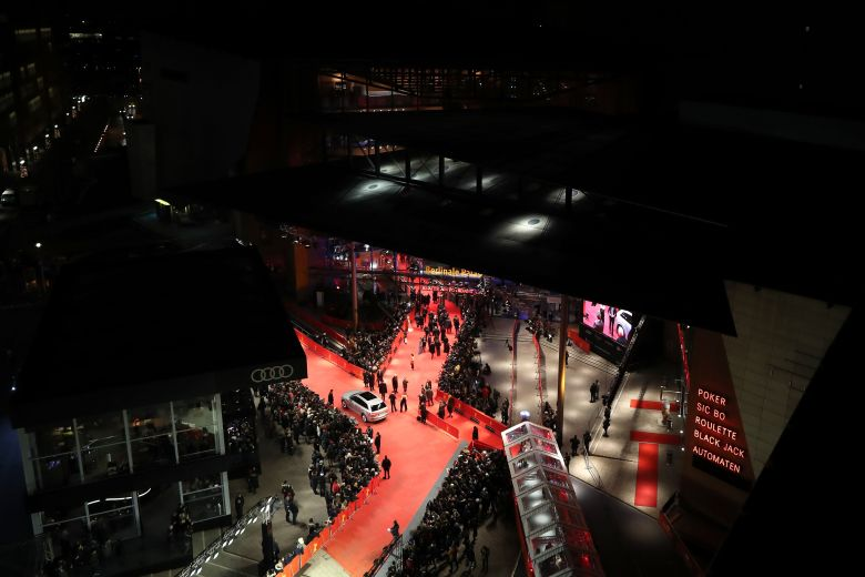 General aerial view of the Berlinale Palast during the opening ceremony of the 67th annual Berlin Film Festival and the premiere of 'Django', in Berlin, Germany, 09 February 2017. Presented in the official competition, the movie opens the Berlinale which runs from 09 to 19 February.'Django' premiere, 67th Berlinale International Film Festival, Berlin, Germany - 09 Feb 2017