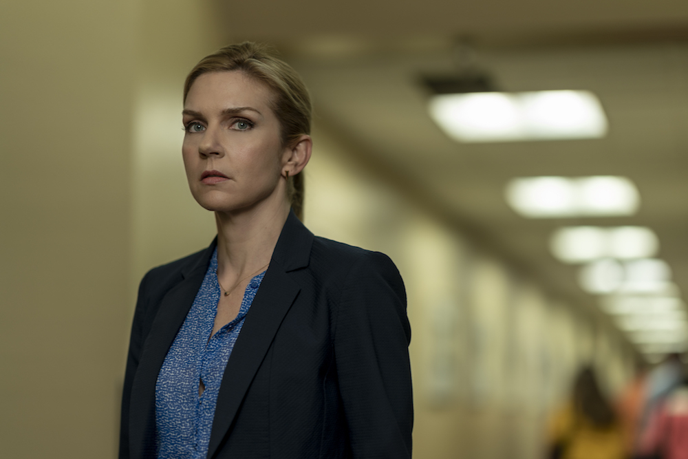 Rhea Seehorn as Kim Wexler - Better Call Saul _ Season 5, Episode 1 - Photo Credit: Warrick Page/AMC/Sony Pictures Television
