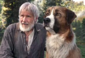 "Harrison Ford and Buck in ""The Call of the Wild"""