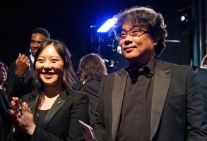 Sharon Choi and Bong Joon Ho