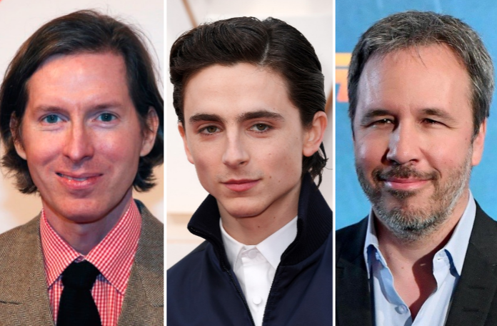 Wes Anderson, Timothee Chalamet, and Denis Villeneuve