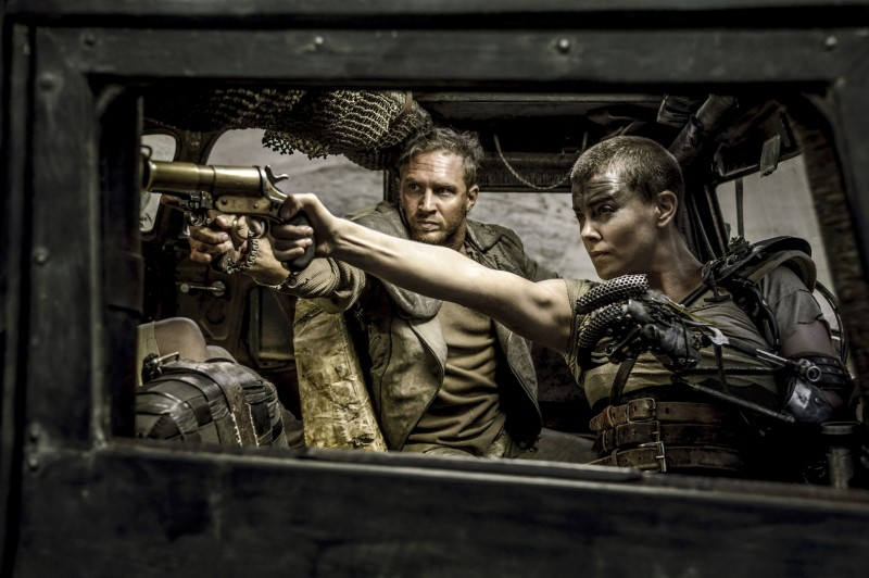 Editorial use only. No book cover usage. Mandatory Credit: Photo by Village Roadshow/Kobal/Shutterstock (5886126am) Tom Hardy, Charlize Theron Mad Max - Fury Road - 2015 Director: George Miller Village Roadshow AUSTRALIA Scene Still Action/Adventure Mad Max 4
