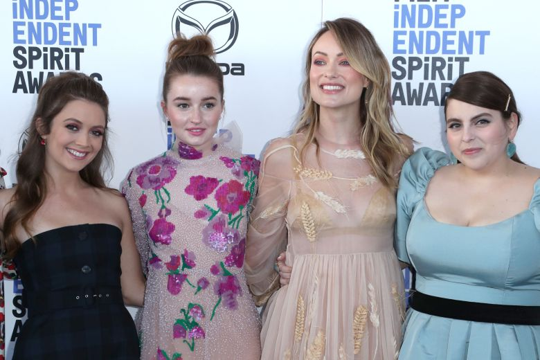 Billie Lourd, Kaitlyn Dever, Olivia Wilde and Beanie Feldstein35th Annual Film Independent Spirit Awards, Arrivals, Los Angeles, USA - 08 Feb 2020