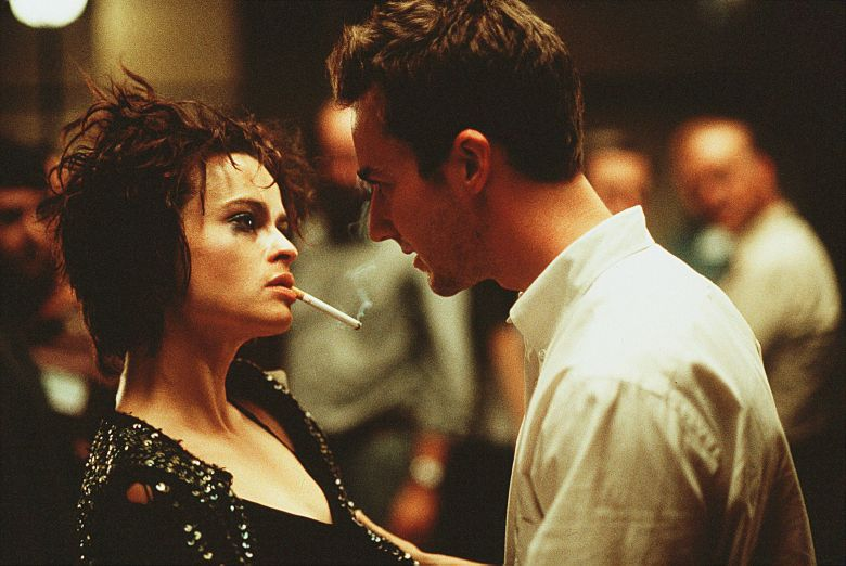 Editorial use only. No book cover usage.Mandatory Credit: Photo by Merrick Morton/20th Century Fox/Kobal/Shutterstock (5884287k)Helena Bonham Carter, Edward NortonFight Club - 1999Director: David Fincher20th Century FoxUSAScene StillDrama