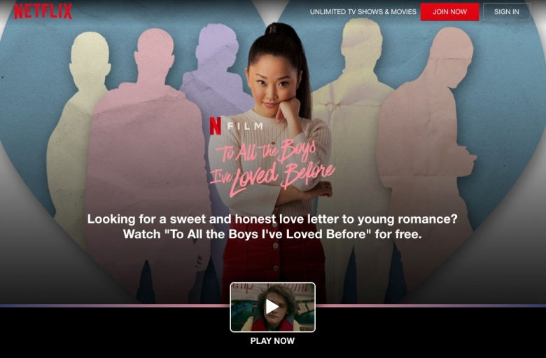 netflix to all the boys i've loved before
