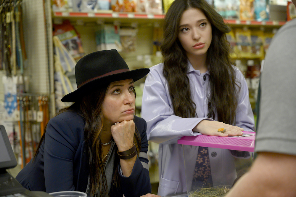 """Better Things Season 4 """"What's good, Shannon?"""" Episode 2 (Airs Thursday, March 5) -- Pictured: (l-r) Pamela Adlon as Sam Fox, Mikey Madison as Max. CR: Suzanne Tenner/FX"""
