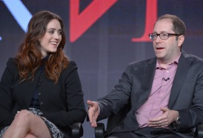 Heather Lind, left, and Craig Silverstein speak on stage at the AMC Winter Press Tour,, in Pasadena, CalifAMC Winter Press Tour, Pasadena, USA - 11 Jan 2014