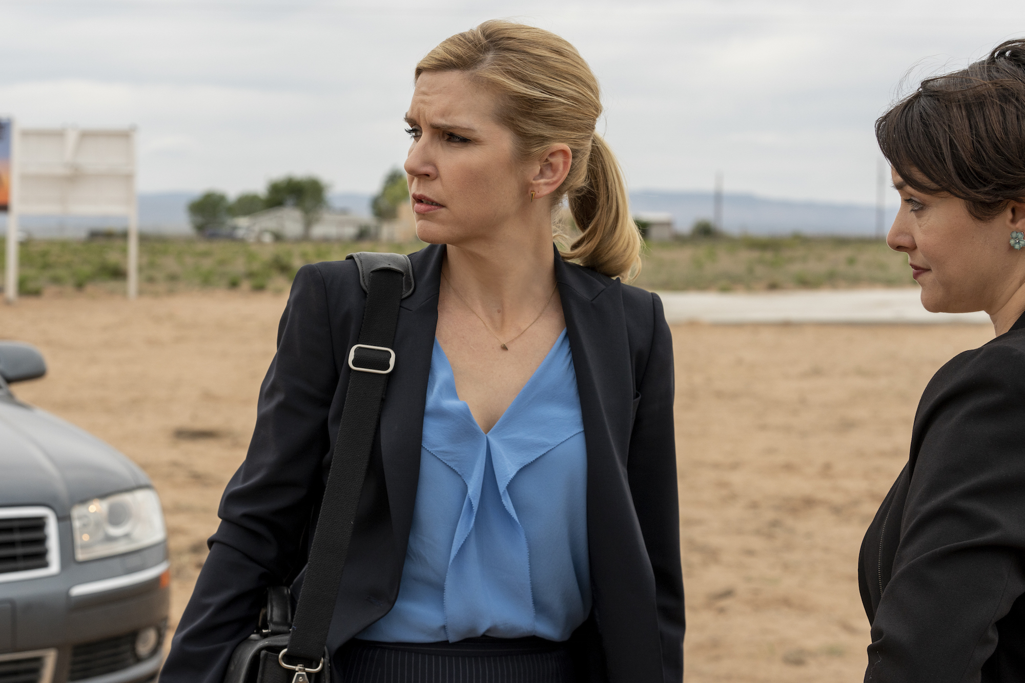 Rhea Seehorn as Kim Wexler - Better Call Saul _ Season 5, Episode 3 - Photo Credit: Greg Lewis/AMC/Sony Pictures Television